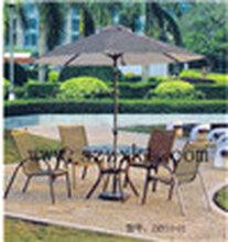 花园藤制材质桌椅图片、编藤椅成套家具生产供应商