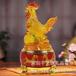 2017鸡年送礼树脂工艺琉璃鸡摆件生肖工艺品保险公司会销礼品定制