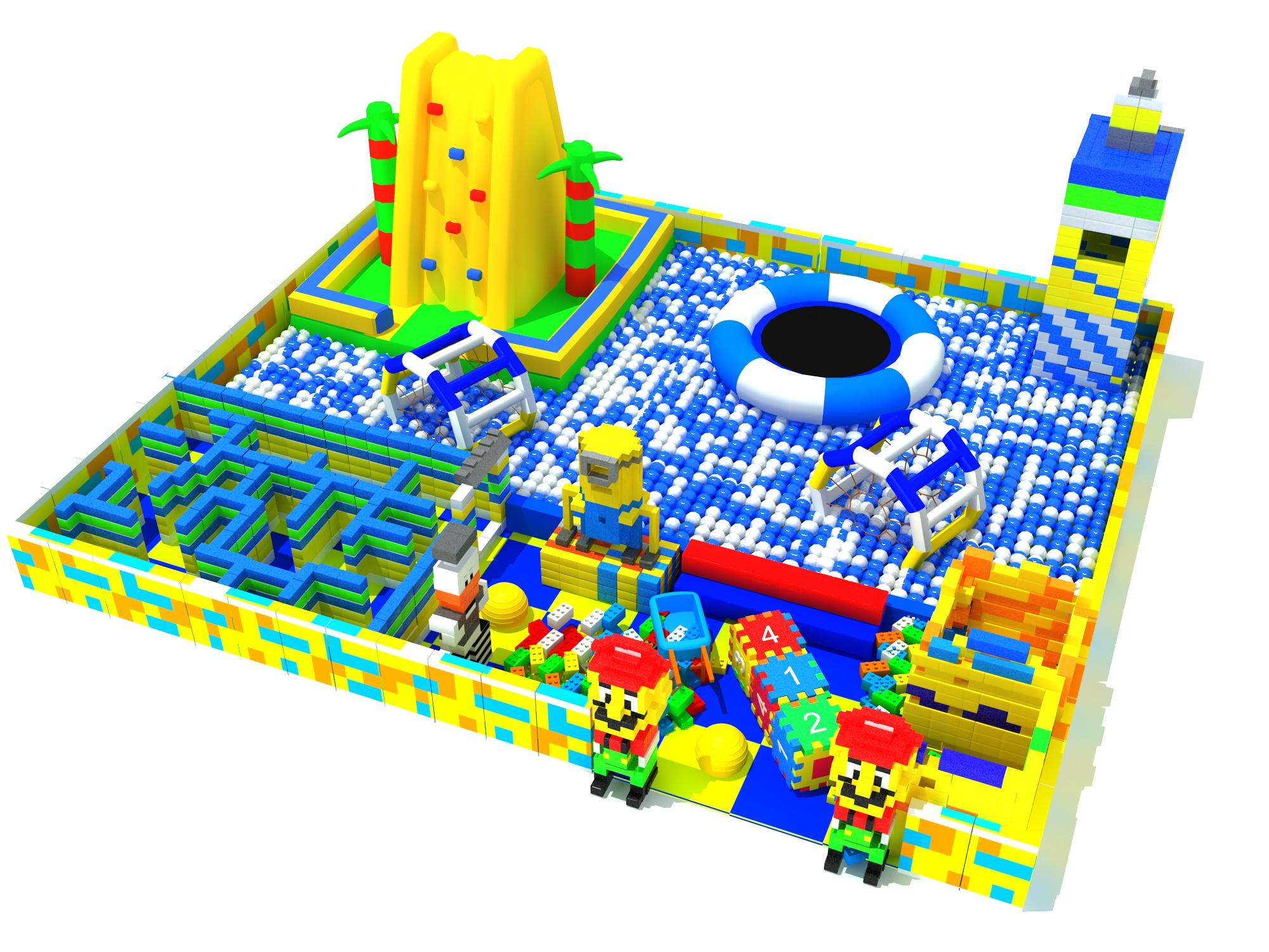 大型百万海洋球池淘气堡儿童乐园系列商场超市儿童室内游乐场设备