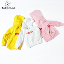 宝宝套头卫衣儿童春秋装上衣2017新款韩版潮童装男童女童连帽外套