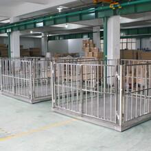 2吨动物电子地磅、15X2米称猪电子地磅称围栏秤动物秤图片