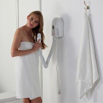 浴室恒温干肤器酒店卫浴挂墙式软管干发器