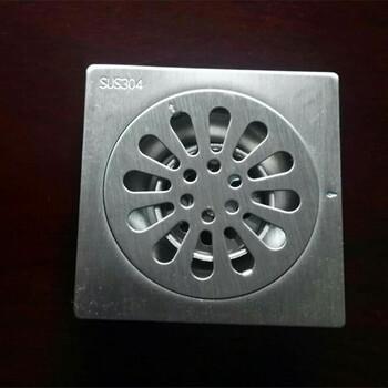 304不锈钢地漏标准尺寸10x10cm工程安装防臭地漏厂家