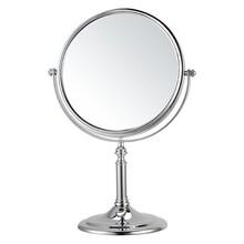 不銹鋼臺座式雙面化妝鏡圓形8寸