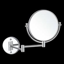 壁掛式不銹鋼化妝美容鏡可伸縮活動