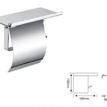 304不锈钢厕所纸巾架手机架防水防腐适合家庭公共卫生间用图片