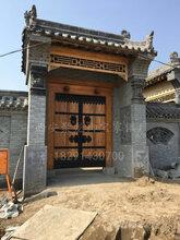 西安实木大门,泡钉大门,中式大门,厂家定做老榆木大门图片