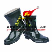 天津双安25kv安全牌劳保绝缘靴绝缘靴电力绝缘胶靴电工鞋华泰图片
