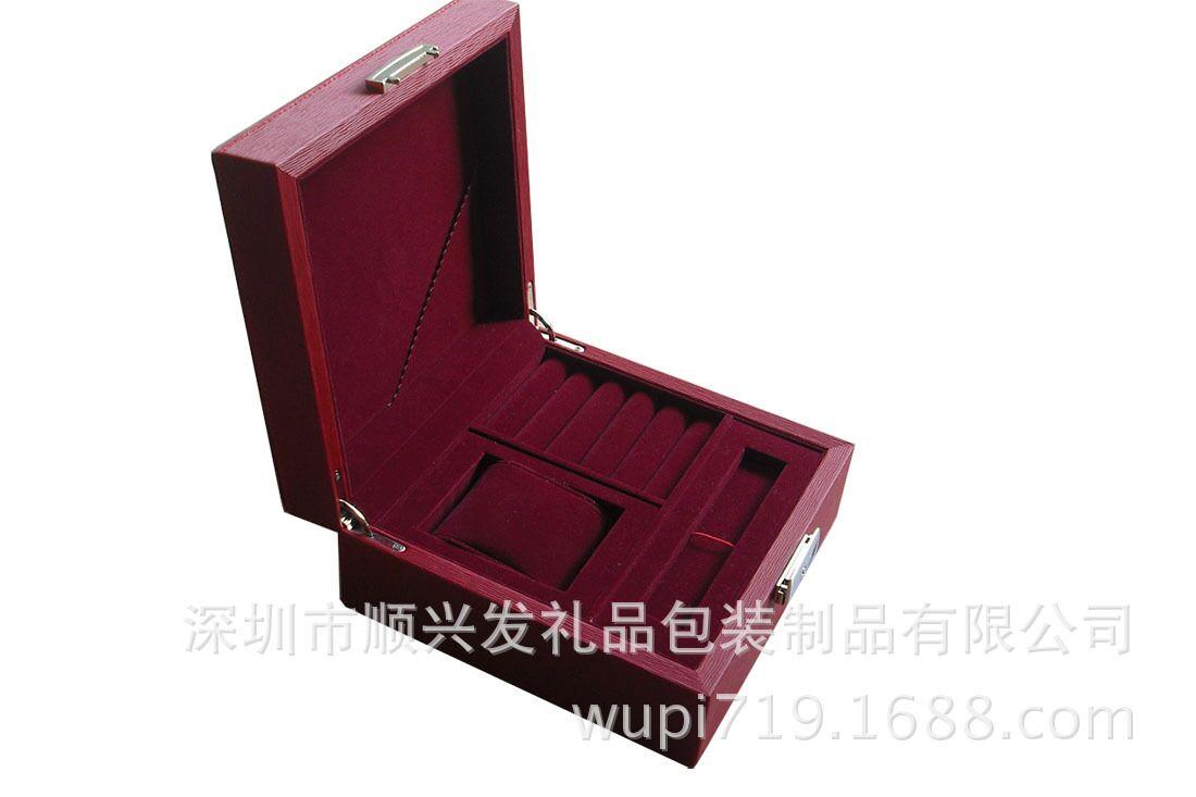 高档包装盒厂家定制皮质手表盒木质材料中性精致皮盒手表批发