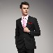 男士黑色斜纹2扣男士西装男士西服套装礼服婚礼套装
