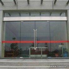 河西区专业安装有框玻璃门/防火玻璃门/肯德基玻璃门图片