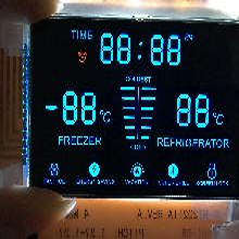 LCD厂家可供应VA黑膜黑底白字LCD段码液晶屏可加急帮客户一步到位图片