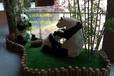 微场景熊猫吃竹子