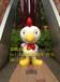 供应新款玻璃钢雕塑卡通,创意动物吉祥主题鸡雕塑