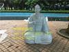 专业生产玻璃钢雕塑人像造型