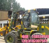 小型越野叉车载重1.5吨身高3米越野叉车山东生产厂家货叉