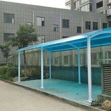 青岛阳光板车棚,青岛pc阳光板雨棚图片