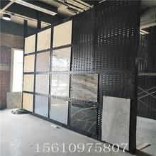 迅鹰瓷砖冲孔挂板货架A即墨挂瓷砖展示架厂家