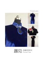 优雅真丝旗袍定制修身版量身订做单人单版全手工缝制
