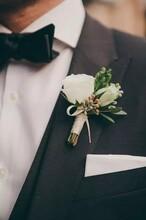 戴上这朵花你就是我的男人了新郎礼服定做量身定制款式修身
