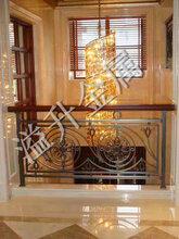 时尚铝艺楼梯栏杆图青岛别墅栏杆批发商报价图片