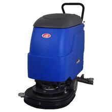 大型超市清洗地面全自动洗地机洗吸一体用威德尔手推式电动洗地机