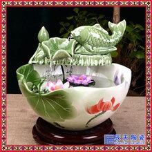 定制水景搭配鱼缸装饰品大小流水喷泉陶瓷摆件假山雾化加湿