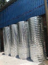 承接消防排烟工程白铁皮风管加工