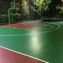 室外篮球场地面用什么材料好图片
