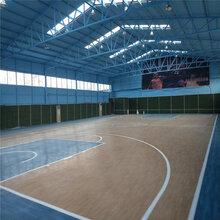 PVC篮球场塑胶地板,篮球场地塑胶施工图片