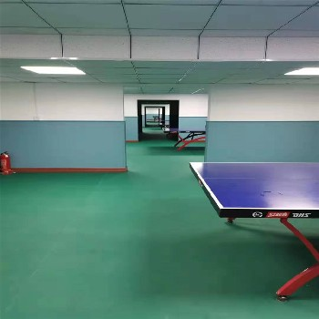 乒乓球室塑胶地板价格,塑胶运动场