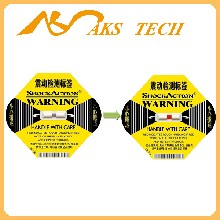 shockaction防震标签L-65黄色25G防冲击运输指示标贴深圳厂家