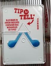 防倾倒标签,倾斜显示标贴,进口防倾贴Tip-N-Tell