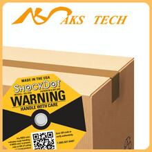 防震防损防冲击指示标签shockdot黄色25G震动显示标签