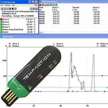 USB自动数据连接一次性温度记录仪,冷藏运输低温温度记录器
