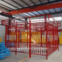 开封郑州许昌漯河焦作塔吊围栏标准化防护棚钢筋棚供应商图片