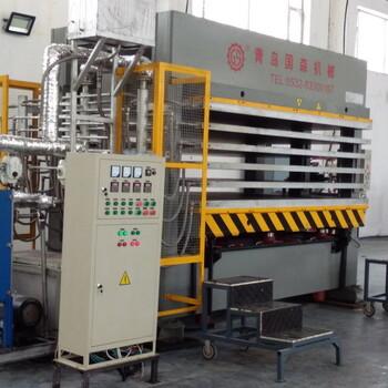 廣東芳綸紙蜂窩層壓板壓機青島國森機械蜂窩板設備