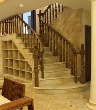 【上海别墅楼梯楼梯楼梯永泰水泥榉木基础别墅二手别墅实木图片