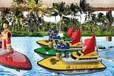 悠樂嘉兒童遙控船充氣水池方向盤控制的水上遙控船