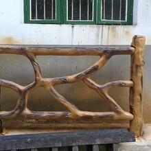 直销全国仿枯木栏杆,枯木栏杆硅胶模具,替代手工栏杆制作图片