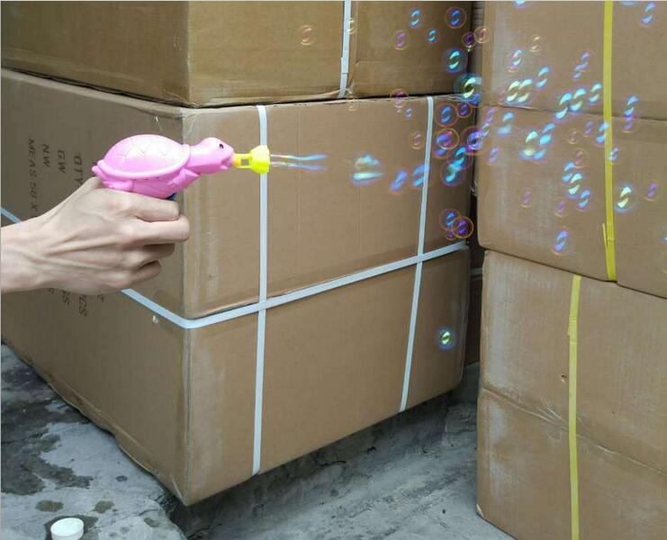 厂家批发手动惯性乌龟泡泡枪配1瓶丽彩泡泡水地摊热卖玩具