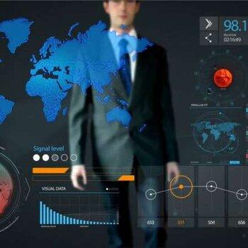 汕頭智慧園區數據可視化大屏設計制作