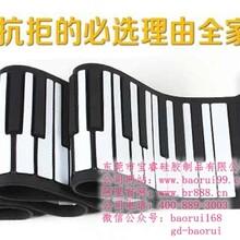供应88键电子琴博锐品牌多功能钢琴手卷钢琴批发图片
