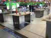 2017新款三星品牌展示台华为店铺手机柜台开放式不锈钢体验桌木质平果展示柜台