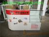 河南订做新款体育彩票销售柜台郑州双色球展示钢化玻璃柜郑东新区刮刮乐福利彩票开票柜