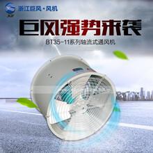 供应浙江巨风BT35-11-5防爆轴流风机0.75KW管道式防爆风机