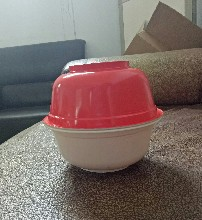 厂家直销1000ml一次性PP可封口食品碗/耐高温可微波塑料碗图片