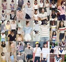 便宜春季小衫批发,几块钱春季长袖T恤,韩版春装纯色长袖T恤,纯色净色女装上衣批发图片