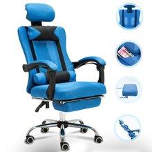 枕墊伸擱布網椅_貴港布塑鋼家具_柳州午休躺座椅圖片