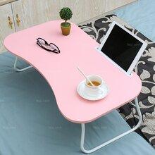 彎扇面折弧腳桌_賀州復合板家具_防城無邊懶折桌圖片